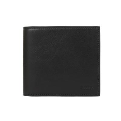 BALLY  全皮革對折短夾(黑色)