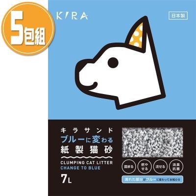 日本 KIRA 大和 紙貓砂 7L x 5 包