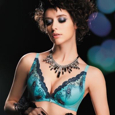 思薇爾 PAN'S BRA羽霓之舞系列B-D罩性感內衣(天使藍)