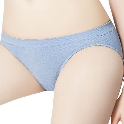 思薇爾 I LOVE U系列M-XXL素面低腰三角內褲(紫煙藍)