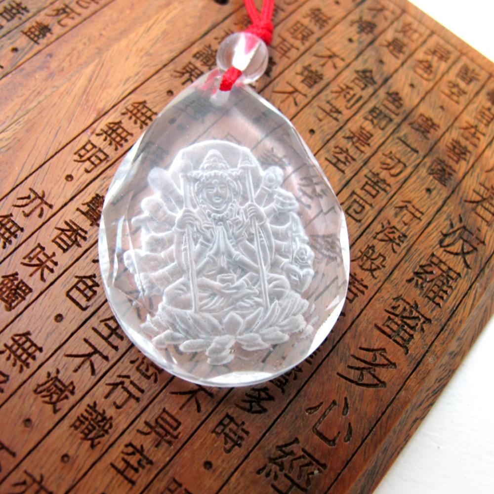 Hera白水晶鼠年生守護神-千手觀音項鍊