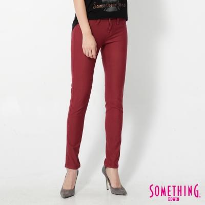 SOMETHING LADIVA 合身窄直筒色褲-女-朱紅
