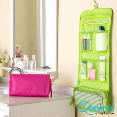 DF Queenin - 韓版炫彩系列出國攜帶旅行盥洗收納袋-果綠