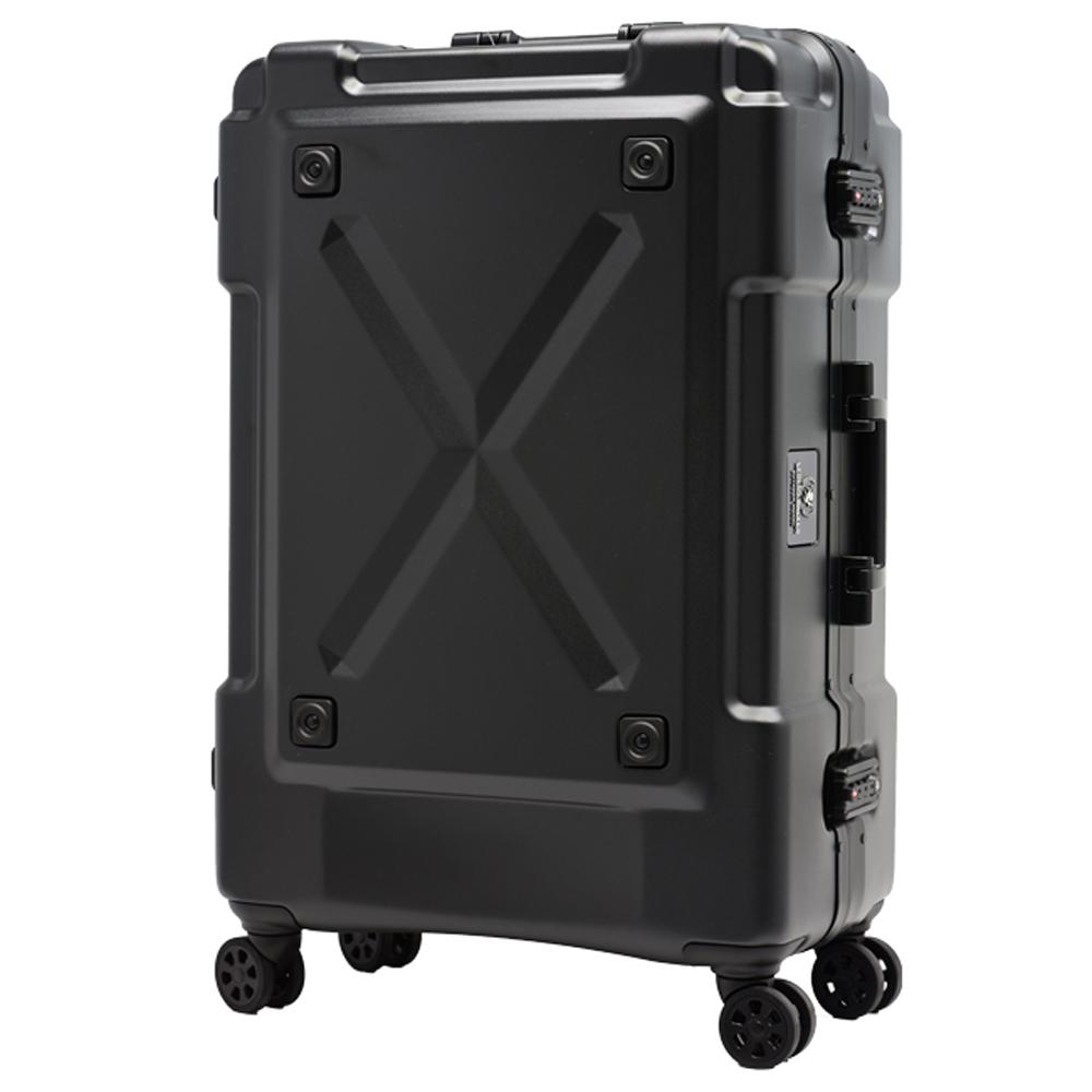 日本 LEGEND WALKER 6302-69-28吋 鋁框密碼鎖輕量行李箱 消光黑