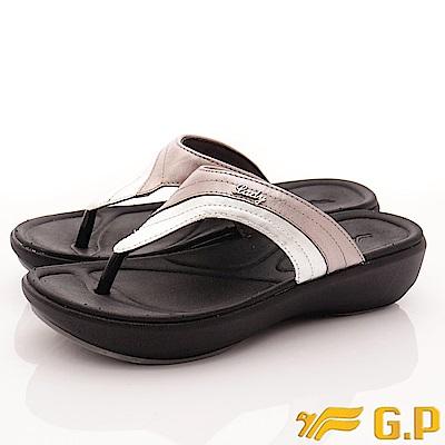 GP時尚涼拖-簡約休閒夾腳款-EI518W-77銀(女段)