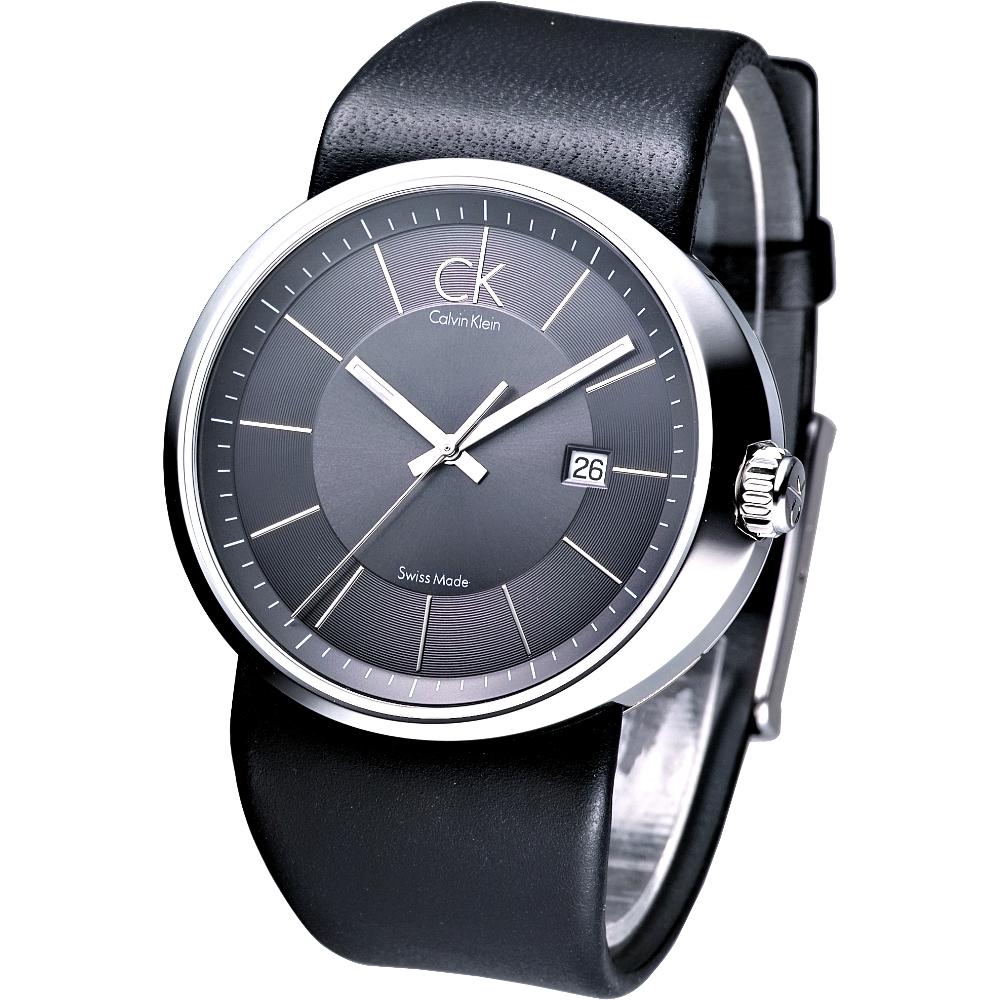 ck trust時尚個性腕錶-灰黑44mm