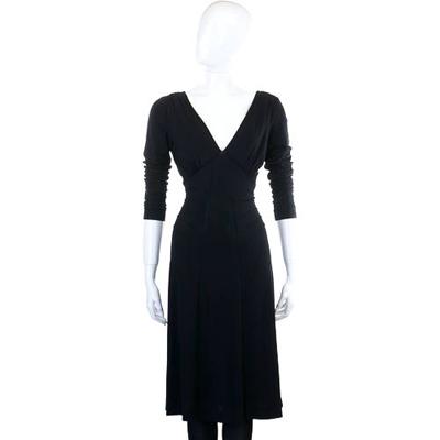 PHILOSOPHY 黑色V領長袖洋裝