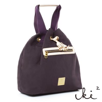 iki2流行包-輕盈系列氣球束口2用手提包-沉穩紫