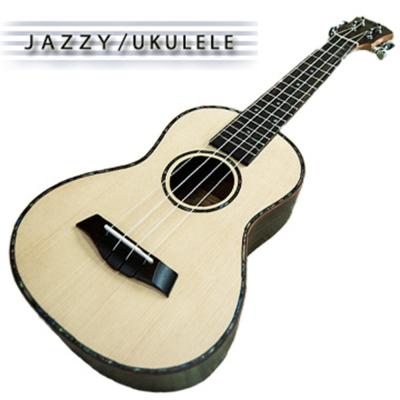 《台灣JAZZY,高級雲杉木單板,全配+調音器》23吋烏克麗麗,牛骨枕,玫瑰木背側板