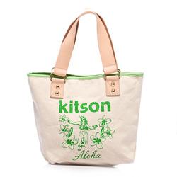 kitson  夏威夷風真皮背帶托特包(M) GREEN