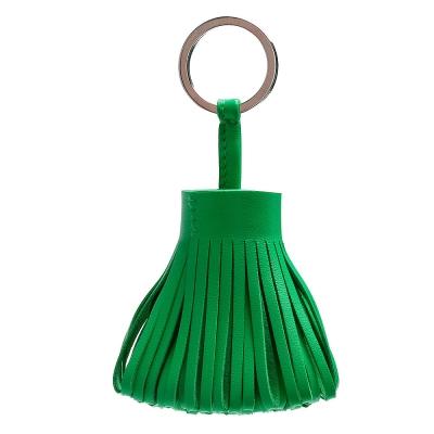 HERMES 流蘇造形山羊皮鑰匙圈手袋吊飾(綠色)