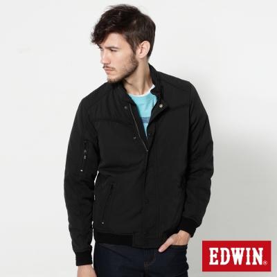 EDWIN-肩繡騎士風鋪棉防寒外套-男-黑色