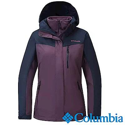 Columbia哥倫比亞 女款-OH 刷毛兩件式外套-暗紫色 UPL70550DL