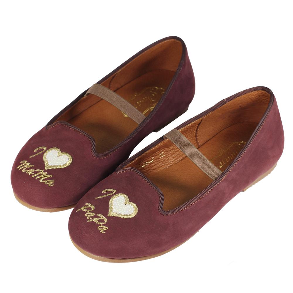 Swan天鵝童鞋-電繡樂福親子鞋 / 寶貝款-3647咖