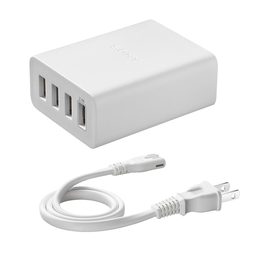 SONY 6A大電流四埠USB原廠旅充/充電器 (CP-AD2M4/W)