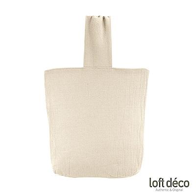 [絕版暢貨] Loft Deco | Beige | 簡約棉麻手提袋