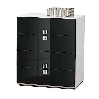 品家居 克萊拉2.7尺雙色四斗櫃-80x42.5x91cm免組