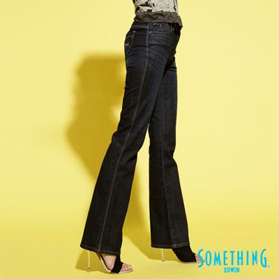 【SOMETHING】自信光芒 SOPHIA 亮片伸縮靴型牛仔褲-女款(原藍磨)