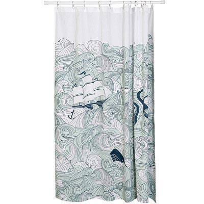 DANICA 棉質落地浴簾(航海冒險)