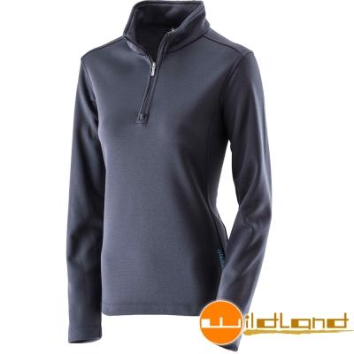 Wildland 荒野 0A22605-72深藍色 女 抗 菌除臭保暖上衣