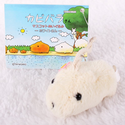Kapibarasan 水豚君小花造型吊飾