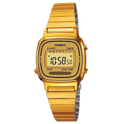 CASIO 復古風金色電子錶(LA670WGA-9)-金/30.3mm