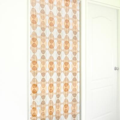 布安於室-幾合圖形遮光風水簾-粉橘
