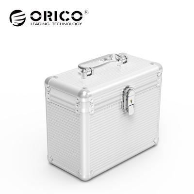 ORICO 3.5吋硬碟全鋁合金保護箱(容納5pcs)-銀 BSC35-05-SV