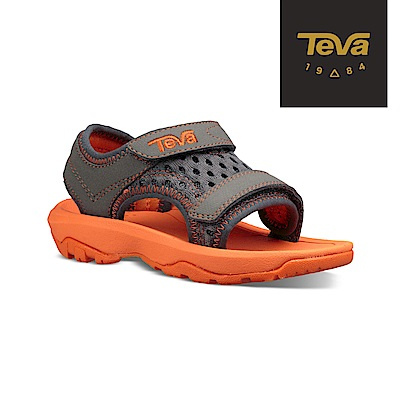 【TEVA】原廠貨 幼童 Psyclone XLT 機能運動涼鞋/雨鞋/水鞋(灰橘-TV1019538TGORN)