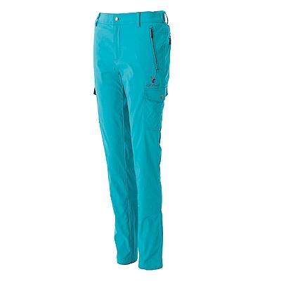 【Wildland 荒野】女彈性合身抗UV貼袋褲藍