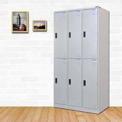 時尚屋 特倫斯多用途塑鋼製6格置物櫃 寬90x深51x高180cm