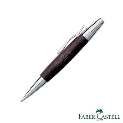 Faber~Castell E~MOTION~高雅梨木系列旋轉鉛筆 銀亮面