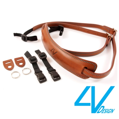4V LUSSO-MEDIUM系列相機背帶 MP01B-VV2330-棕/青色(...