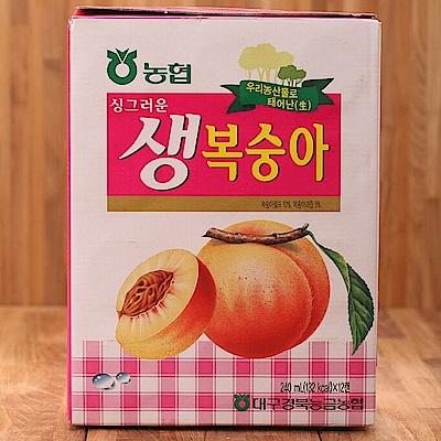 韓國HAITAI 水蜜桃汁(240ml*12入/盒)