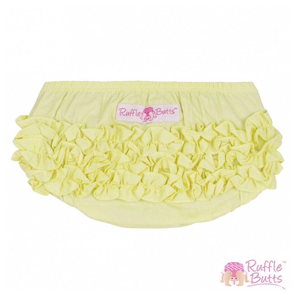 RuffleButts 小女童荷葉邊包屁褲-黃色