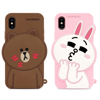 GARMMA LINE Friends  iPhone X-立體矽膠果凍套