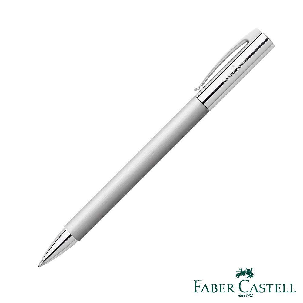 Faber-Castell成吉思汗Ambition-鋼鐵金屬感銀絲系列原子筆