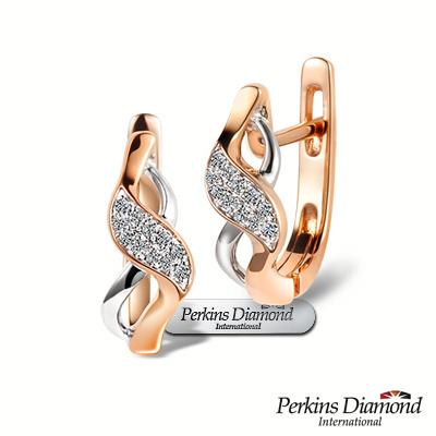 PERKINS 伯金仕 - infinity系列 玫瑰金鑽石耳環