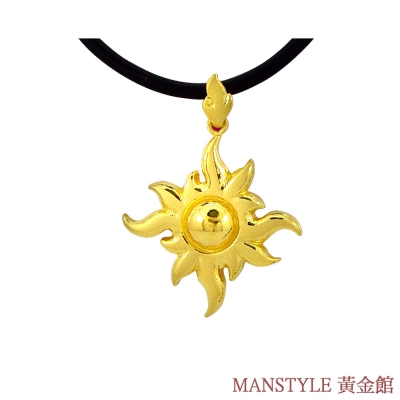 Manstyle 太陽神黃金墜 (約2.63錢)
