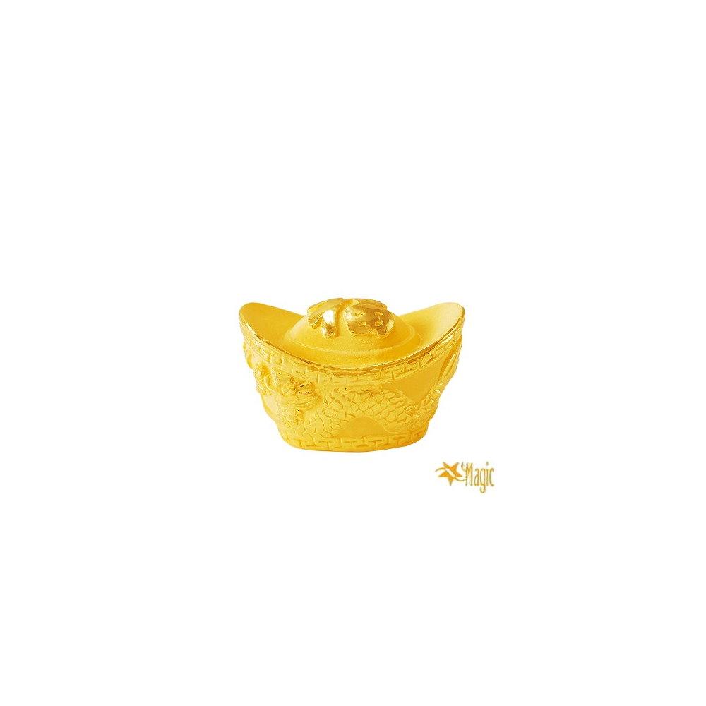 【Magic魔法金】福字元寶( 0.8錢) 立體黃金  (木盒精裝)
