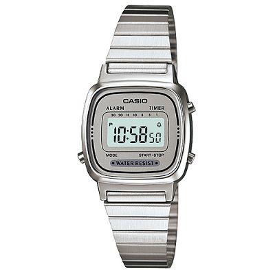 CASIO 經典復古風數位女腕錶(LA670WA-7)-灰銀框/24.6mm