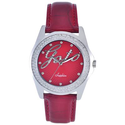 GOTO Starry Sky 晶鑽時尚腕錶-紅/38mm