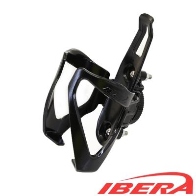 IBERA 自行車調整式水壺架 (黑)