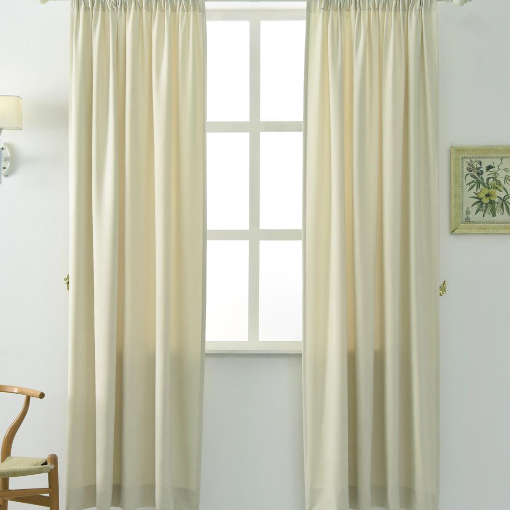 伊美居 - 妮可絨布半腰窗簾 130x165cm(2件) 三色可選