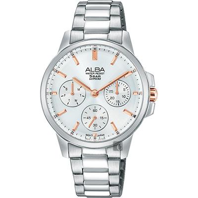 ALBA  年輕率女孩日曆腕錶(AP6511X1)-銀/34mm