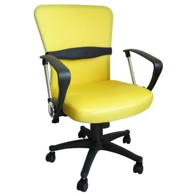 Dr.DIY D型扶手(透氣網布)雙彩主管椅/辦公椅/電腦椅(黃色)