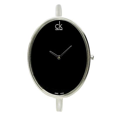 CK  Sartorially 純黑金屬手環女錶(K3D2S111) - 黑/32mm