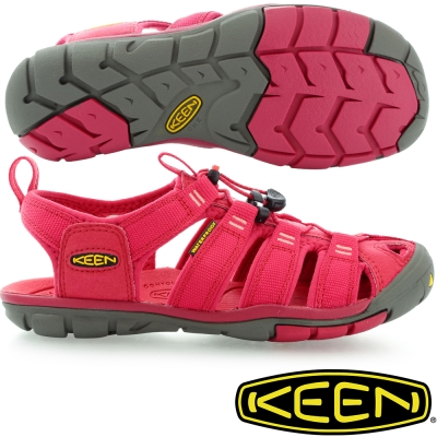 KEEN 女戶外護趾涼鞋Clearwater CNX-1008769紅色