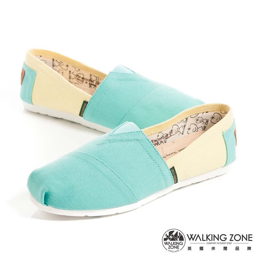 WALKING ZONE 悠閒步伐輕巧國民便鞋女鞋-藍綠