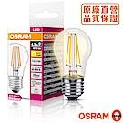 歐司朗OSRAM 球泡型 4.5W  LED調光型燈絲燈泡 120V E27-4入組